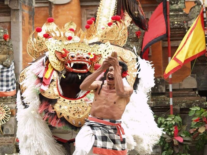 Zeremonie im Tempel
